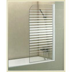 Mampara de banyerade 85 cm Frontal amb Vidre Decoratiu