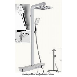 Showers sets Thermostatic Faucet in Aluminium White