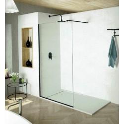 Mampara Frontal de dutxa Fix  NEGRE