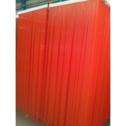 RED Curtains PVC