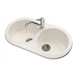 White synthetic sink